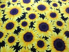 Fabric Sunflowers C4808, sold by the yard