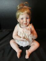 Danbury Mint Karen Scott Porcelain Baby Girl Doll MBI Movable Limbs