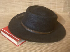 A.Adams & Spire Men's Black Panama Golf Sun Woven Straw Hat One Size Fits All