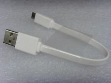 2X 16cm ASUS 5V 2A/3A Power Bank Travel  Short FLat Micro USB Fast Charger Cable