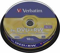 VERBATIM DVD+RW 4X In Campana Da 10pz 43488