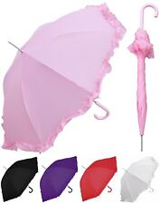 "48"" Arc Parasol Style Auto Umbrella - RainStoppers, Rain/Sun, UV, Costume"