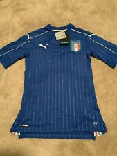 2ae0313b9f1 Men's Puma FIGC Italy Italia Home Authentic Soccer Jersey 748828-01 Size  Large