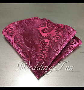 NEW PAISLEY Pocket Square Handkerchief Hankie Only 43 colors Party Prom Wedding