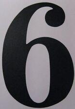 Aufkleber Zahl, Ziffer, schwarz, ca. 8 cm Höhe, selbstklebend, Nr. 6