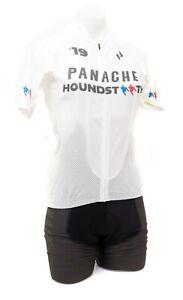 Panache Pro Houndstooth Racing Short Sleeve Cycling Kit Women SMALL White Bike
