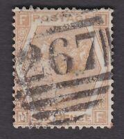 GB QV 1872/3 6d chestnut pl.11 SG122a good colour some short perfs - 267 Durham