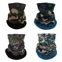 Fleece Bandana Face Mask Headwear Head Neck Gaiter Snood Warmer Tube Scarf Wraps