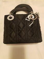 Christian Dior Lady Dior Cannage Rhinestone Mini Hand Bag Satin