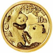 China - 10 Yuan 2021 - Panda - Anlagemünze - 1 gr Gold ST