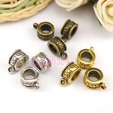 15Pcs Tibetan Silver,Gold,Broze Charm Pendant Bail Connector Fit Bracelet M1103