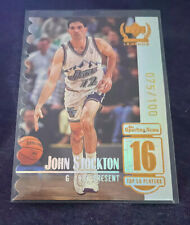 #075/100 John Stockton 1999 Upper Deck Century Legends 16 Die-Cut Top 50 Jazz