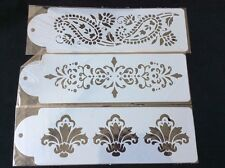3 Piece Set Of  Paisley Style Stencils For Cake Decorating