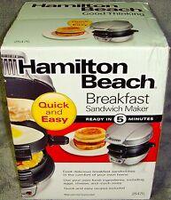 Brand New in Sealed Box•Hamilton Beach•Single•Breakfas t Sandwich Maker•No. 25475