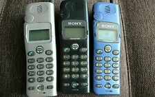 Sony CMD CD5 Lot of 3 GSM CellPhones *VINTAGE* *COLLECTIBLE* *RARE*