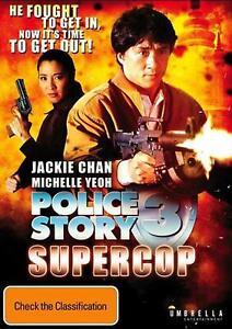 POLICE STORY 3 Supercop (1992) Region 4 [DVD] Three Super Cop Jackie Chan
