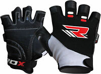 RDX Weight Lifting Gloves Body Building Glove Gym Workout Fitness Leather Glove