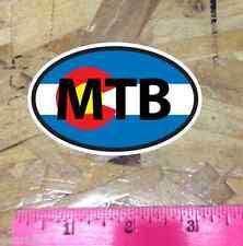 MTB Colorado Flag Mountain Bike CO oval sticker decal