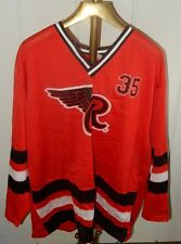 VINTAGE 90'S LARGE RED WING/RAWLINGS HOCKEY JERSEY #35 RED! SIZE: XL