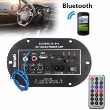 50W Home Car Bluetooth Subwoofer Hi-Fi Bass Power Amplifier Board Audio USB IR