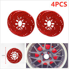 4PCS Car Wheel Brake Disc Cover Decorative Rotor Cross Drilled  7.4cm/ 2.9""