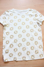 BODEN Make a Statement cotton  Tee  size XS  NEW WO077  ivory/gold