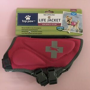 Top Paw Neoprene Life Jacket For Dogs 5 To 15 Lb Pink Size XS X Small