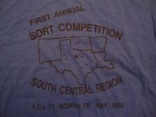 Vintage First Annual Sort Competition South Central Region 89 T Shirt Size M