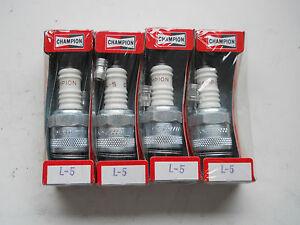 4 x Champion L5 Spark Plug Douglas Excelsior Panther Villiers Velocette Neval