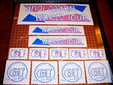 1986 GT BMX World Tour, restoration decals on clear PINK, Rockville, ACS