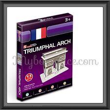 Paris Triumphal Arch DIY Educational 3d Puzzles Jigsaw for Kids Adult 13 Pieces