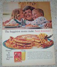 1962 ad page -Aunt Jemima PANCAKES cute little Boy Girl Mom vintage Print ADVERT
