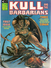 KULL AND THE BARBARIANS #1 (1975) Marvel Comics B&W magazine Adams Wood Severin