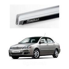 Chrome Side Window Vent Visors Rain Guards for Toyota Corolla 2003 - 2008