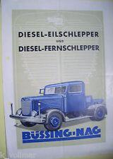 ✪Sales Brochure Orig. PROSPEKT Büssing NAG Diesel Eilschlepper & Fernschlepper
