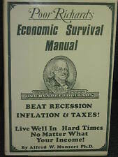 Poor Richard's Economic Survival Manual Alfred Munzert Ph.D. HB DJ #BK03