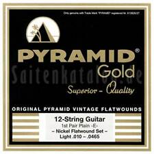 Pyramid GOLD Chrome-Nickel Flatwound, 12-string, Extra light 10-42
