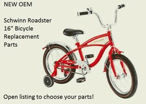 """Brand New Schwinn Roadster 16"""" RED Bicycle Replacement Parts: Choose your part!"""