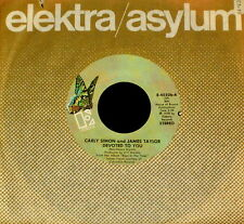 "CARLY SIMON JAMES TAYLOR ""DEVOTED TO YOU/Boys In The"" ELEKTRA 45506 (1978) 45rpm"