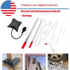 10pcs Car Door Key Lock Out Emergency Opening Unlock Tools Kit + Air Pump +Wedge