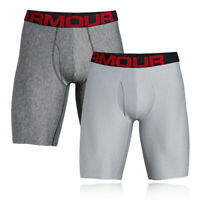 Under Armour Mens Tech 9in Boxerjock Grey Sports Gym Running Breathable