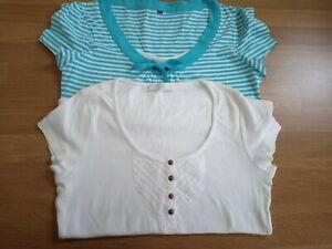 M&S Ladies Cotton T-Shirts x 2 Size 8