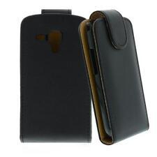 Für Samsung Galaxy S Duos / S7562 Schwarz -Kunstleder Tasche,Handytasche,Case,Hü
