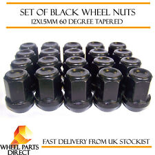Alloy Wheel Nuts Black (20) 12x1.5 Bolts for Opel Manta [B] 75-88