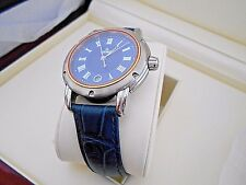 Mint GEVRIL Men's S0111 Blue Dial Swiss Quartz Leather Watch with Box. #1119