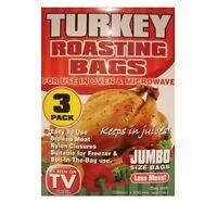 3 Pack JUMBO Roasting Bags Microwave Oven Cooking Turkey Meat Christmas Dinner