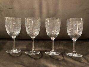 Beautiful Set 4 Crystal Baccarat Paris Stemware Glasses Wine Or Water Gr8 Desi9
