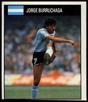Jorge Burruchaga Argentina #7 Orbis World Cup Football 1990 Sticker (C234)
