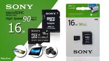 16GB Sony Micro SD SDHC scheda di memoria PER SAMSUNG GALAXY J3 J5 cellulare