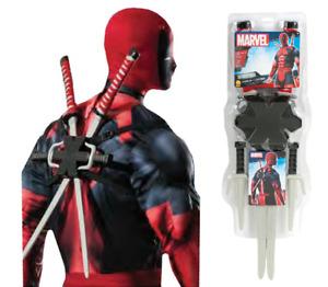Deadpool Weapon Kit Swords Sais Knives Movie Costume Backpack Gift Cosplay Ninja